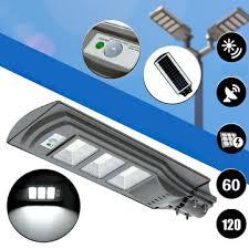 60w 120 led <b>solar</b> radar motion activated <b>sensor</b> wall <b>street light</b> for ...