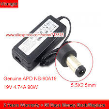 Genuine APD <b>19V</b> 4.74A 90W <b>NB</b> 90A19 Laptop <b>Charger</b> DA 90C19 ...