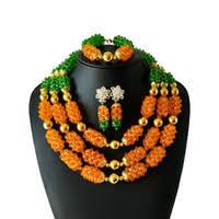dubai bridal coral jewelry sets big nigerian wedding african beads fashion for wome free shippingabh200