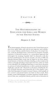 the historiography of education for girls and women in the united inside