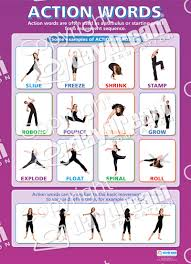 action words dance educational school posters action words poster