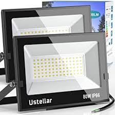 Ustellar 2 Pack 60W LED Flood Light, <b>IP66 Waterproof</b>, Outdoor ...