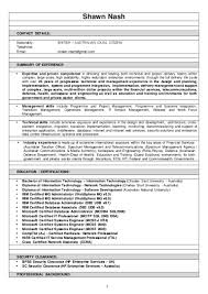 resume shawn nash