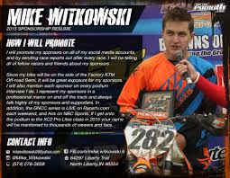 motocross sponsorship resume moto resume sample reentrycorps motocross sponsorship resume
