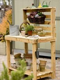 build your own potting bench from wood pallets buy pallet furniture design plans