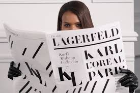 L'Oreal <b>Karl Lagerfeld makeup</b> collection launching during Paris ...
