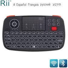 <b>Rii RT726</b> (i4) mini <b>Bluetooth</b> מקלדת רוסית צרפתית עברית ספרדית 2.4 ...