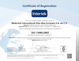 certification in manufacture of dental cements medental iso 13485 2003 min