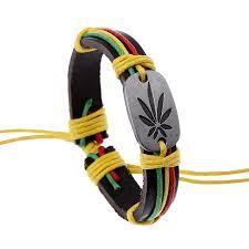 <b>KYSZDL</b> Fashion Jewelry Jamaica Red Green Sabzi Alloy Leather ...