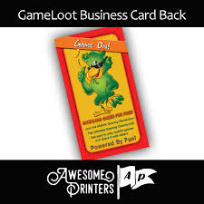 gameloot network business cards gameloot network business card bc01