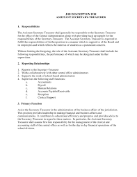 job description how to write a job description templates secretary job description 01