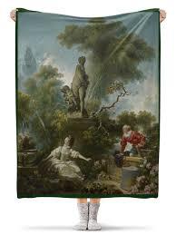 <b>Плед флисовый 130</b>×<b>170</b> см Встреча (Жан Оноре Фрагонар ...