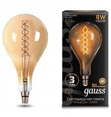 Светодиодная <b>лампа GAUSS</b> LED <b>Vintage</b> Filament Flexible <b>A160</b> ...