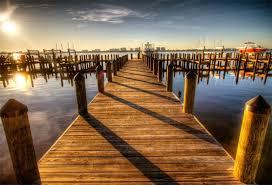 <b>Laeacco</b> البحر جسر خشبي الأزرق السماء الغروب التصوير الخلابة ...