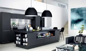 httpwwwcaddomineralcomwp contentuploads201605modern black kitchen design featuring black kitchen island with compact all in one furniture design all black furniture