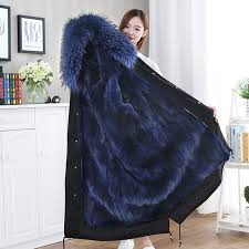 <b>2019</b> Custom <b>Real Raccoon Fur</b> Lined Parka / Women Autumn ...