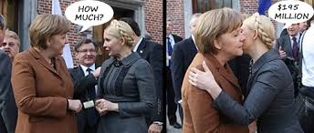 Resultado de imagem para Merkel and Tymoshenko