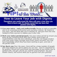 intelligent placement how to leave your job dignity how to leave your job dignity
