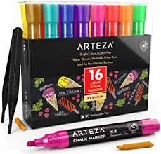 ARTEZA Liquid Chalk Markers Set of 16 (16 Bright ... - Amazon.com
