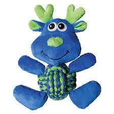"""<b>Kong игрушка</b> для собак """"Лось"""", средний 22*20 см, <b>Weave</b> Knots"""