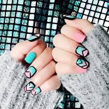 24 шт <b>розовые</b> и голубые <b>ногти</b> с рисунком французские ...