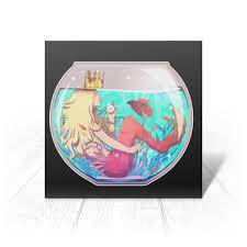 Открытка <b>Русалка</b> в аквариуме #2820997 от VarvarArt - <b>Printio</b>