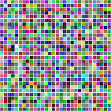 Multicolor computer generated square <b>pixel</b> mosaic <b>background</b> ...