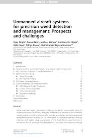 (PDF) Unmanned aircraft systems for precision weed detection and ...