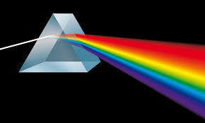 Image result for picture of a triangle with white light coming out of it