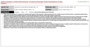general store maintenance technician resumejpg image format   general store maintenance technician resume