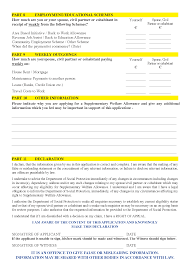 how to fill out the supplementary welfare allowance form spunout page 4