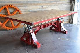 collect this idea crank table design by vintage industrial american retro style industrial furniture desk