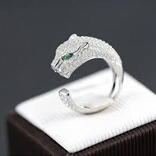 <b>Fashion</b> Rings <b>Personality</b> 925 Sterling Silver Plated Jaguar Rings ...