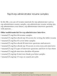 erp administrator sample resume great resume templates lva1 app6892 thumbnail 4jpg cb 1431467710 top8erpadministratorresumesamples 150512215419 lva1 app6892 thumbnail 4 top 8 erp administrator resume samples