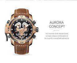 <b>Reef Tiger</b>/<b>RT</b> Brand <b>Military</b> Watches for Men Rose Gold Blue Dial ...
