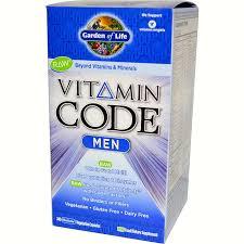 <b>Vitamin Code Men</b>- by Garden of Life- <b>240</b> caps – White Dove ...