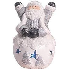 Buy Iampretty Nordic Snowball Santa Claus Figurines with <b>Lights</b> ...