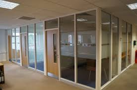 white kitchen windowed partition wall: kitchen divider doors best  office partition wall glass door