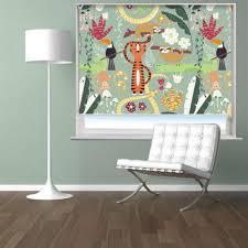 Kids <b>Cartoon</b> Jungle <b>Animals Pattern</b> Blinds | Photo <b>Printed</b> Picture ...