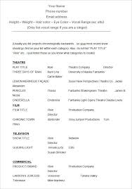 sample acting resume template free download free downloadable resume formats
