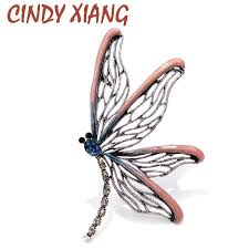 <b>CINDY XIANG New Arrival</b> 3 Colors Choose Large Enamel Butterfly ...