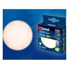 Светодиодная <b>лампа Uniel LED-GX53-13W/WW/GX53/FR</b> ...