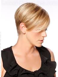 High Profile Cute Blonde Short Haircuts Over The Ears - Side View. How To Style: 1. Apply a styling product to wet hair. - high-profile-cute-blonde-short-cut-over-the-ears-view-2