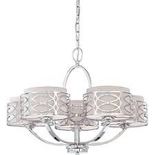 harlow 5 light chandelier polished nickel finish with slate gray fabric shade bathroom chandelier lighting