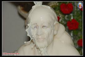 Image result for images of milk abhishekam to baba