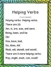 Image result for helping Verbs list for 4th grade
