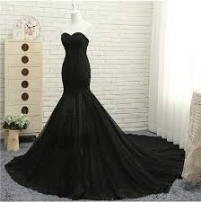 2018 Elegant Black <b>Lace</b> Mermaid <b>Wedding</b> Dresses Custom Made ...