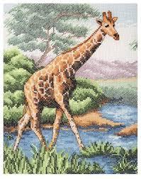 <b>Anchor Набор для вышивания</b> Жираф 23 х 18 см (PCE965 ...
