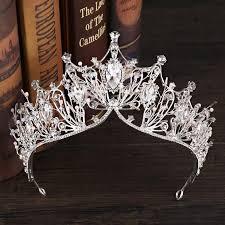 2019 <b>Crystal Big</b> Tiara And Crowns <b>Luxury Rhinestone</b> Bridal Hair ...