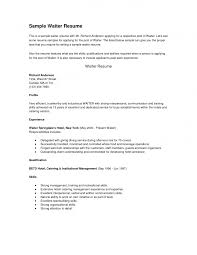 resume templates  sample waitress resume waitress duties resume  sample waitress resume